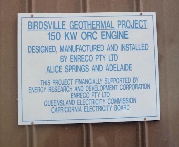 Birdsville geothermal