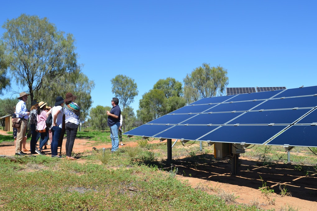 Lendlease executives tour the DKA Solar Centre