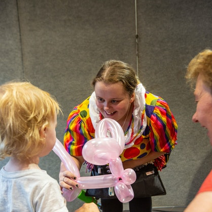 Face painting and balloon animals were a hit with Alice Springs kids