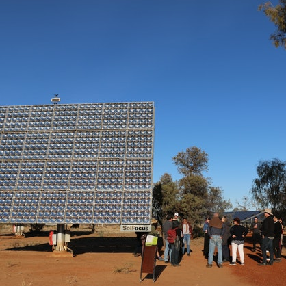 A well-attended tour of the DKA Solar Centre