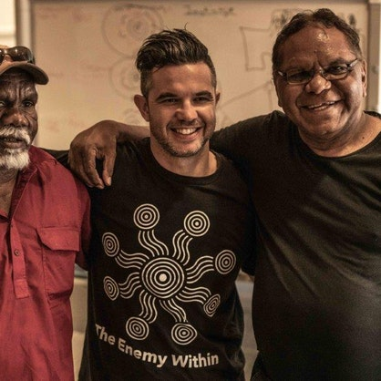 Joe Williams with Arrernte Elders
